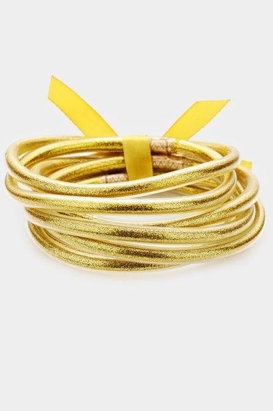 Glitter Jelly Tube Bangle Bracelet