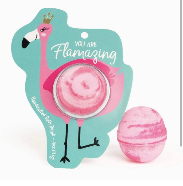 You Are Flamazing Flamingo Clamshell Bomb