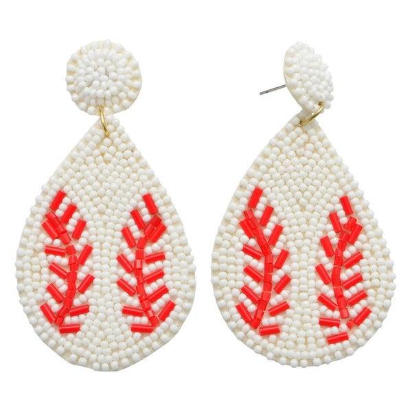 Baseball Life Earrings