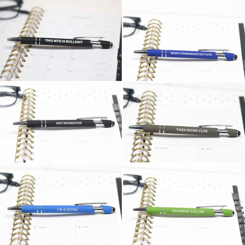 Witty Pens! - 6 Sayings!