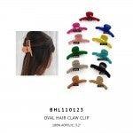 Acrylic Oval Hair Claw Clip
