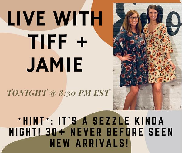 Live Tonight @ 8:30 PM EST!