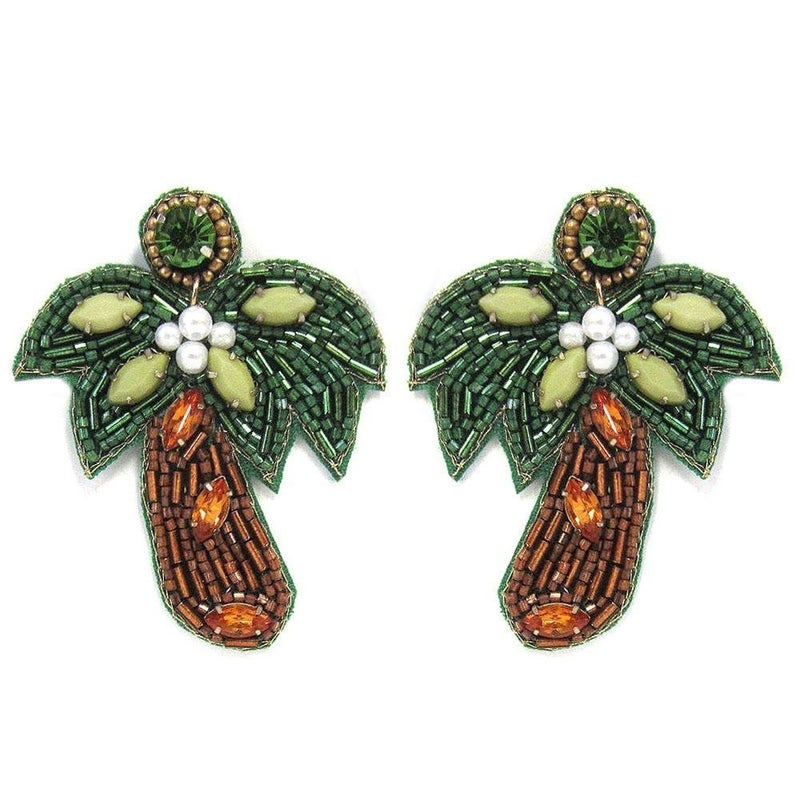 It's The Palms For Me Earrings
