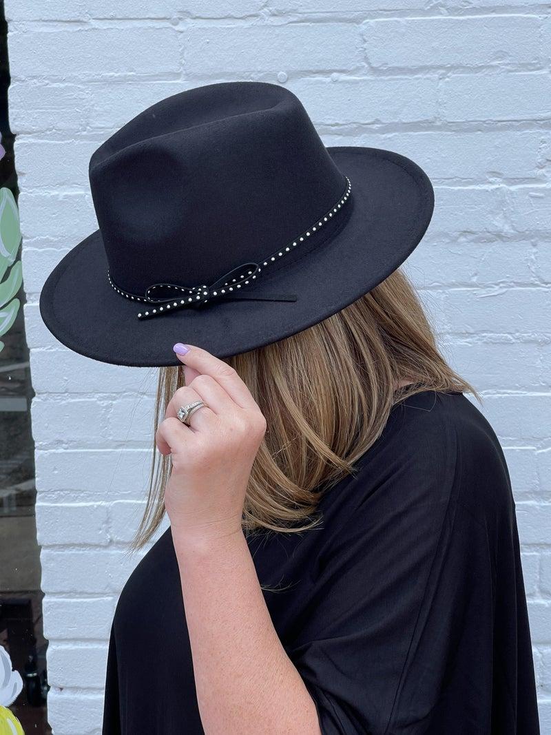 Wool Felt Fedora Hat *Black*