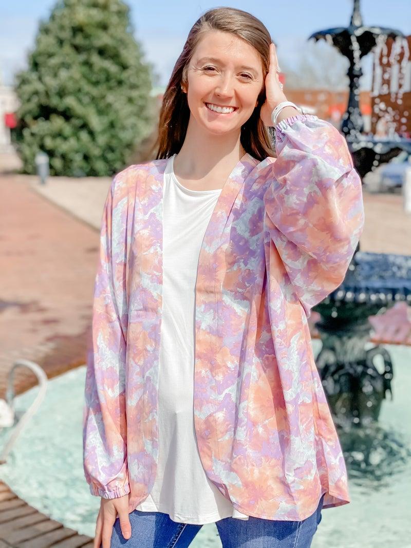 For Peach And Love Kimono