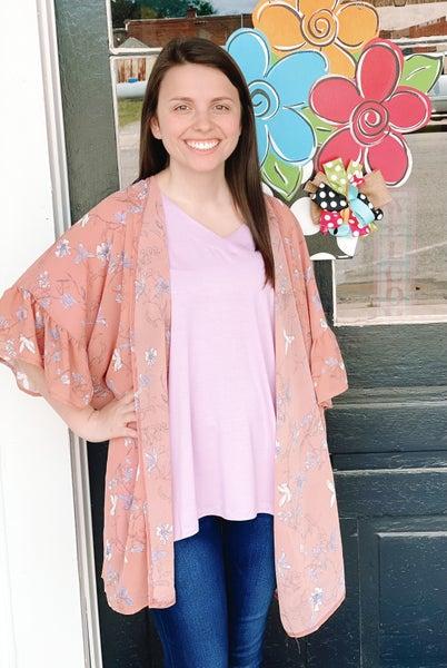 Innocent In Floral Kimono