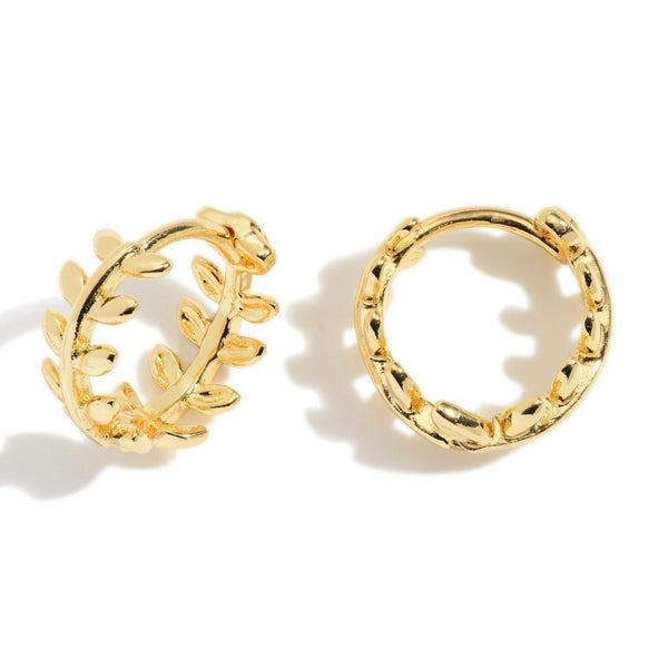 Going For Gold Huggie Hoop Earrings