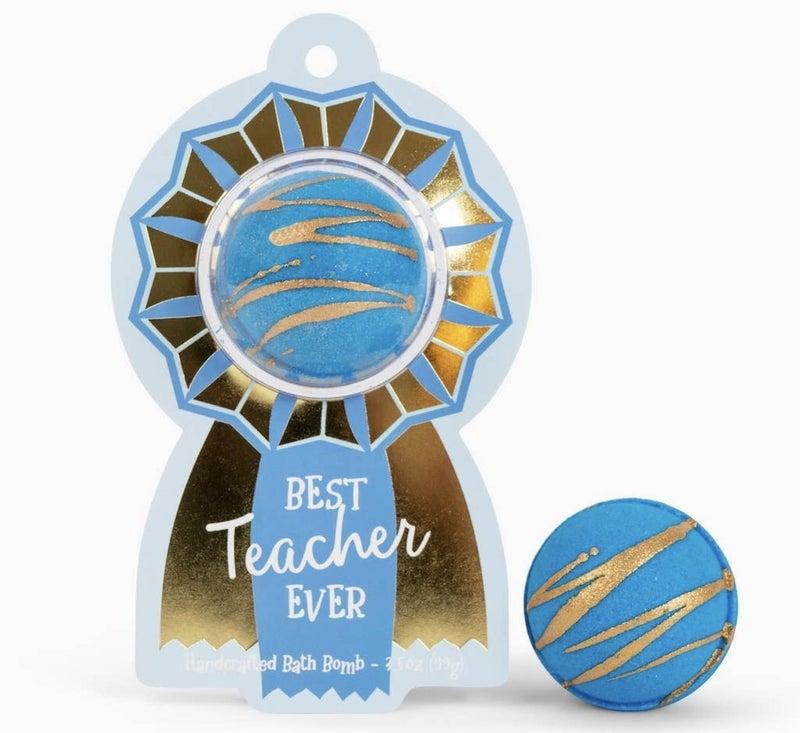 Best Teacher Ever Award Ribbon Clamshell Bath Bomb