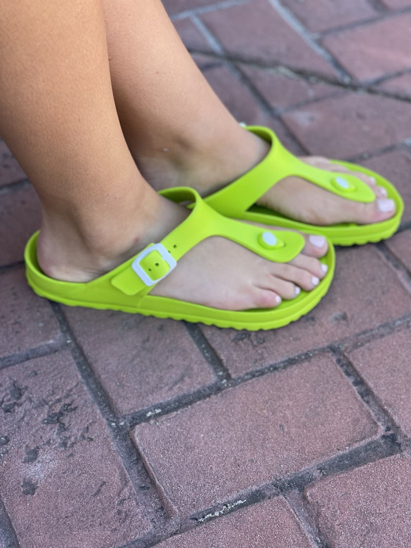 Corkys Jet Ski Sandals - Lime