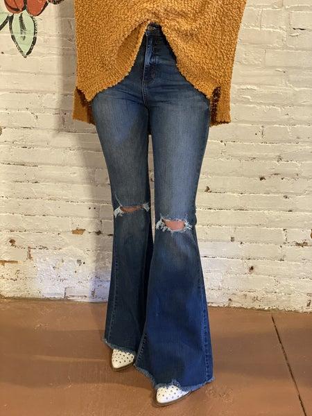 Sneak Peak High Rise Flare Jeans