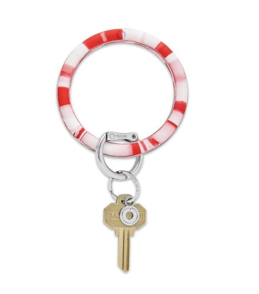 Silicone Big O Key Ring *Cherry On Top Marble*