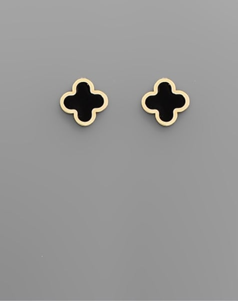 Dupe Clover Studs