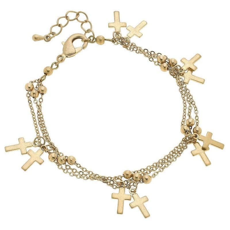 Heaven Sent Cross Charm Bracelet