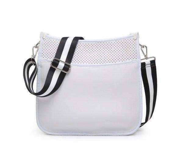 Neoprene Crossbody & Tote Bag - White