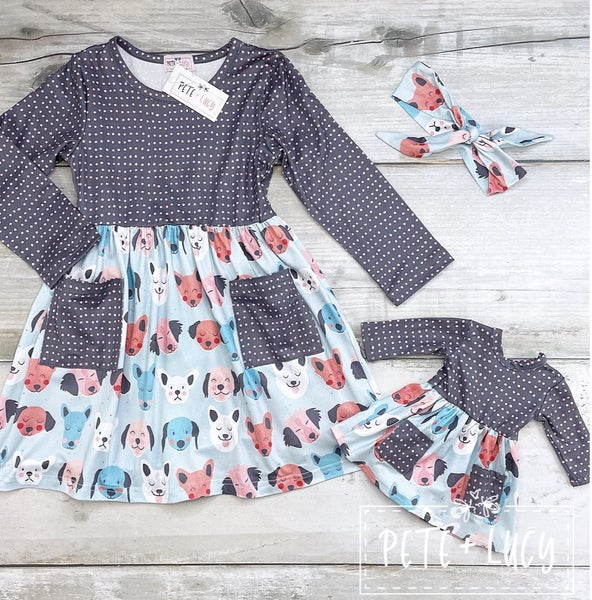 PREORDER: Pete + Lucy Puppy Dog Pals: Dolly Dress