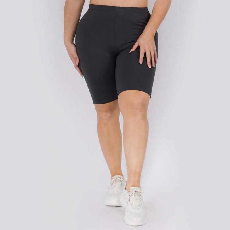 Curvy Only! My Go To Biker Shorts Charcoal