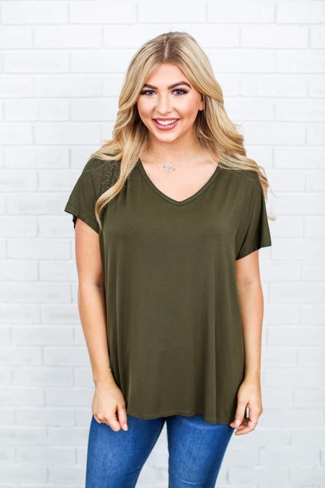 Last Ones!! Beaux Top in Plus- Peace Love Cake ! *Final Sale*