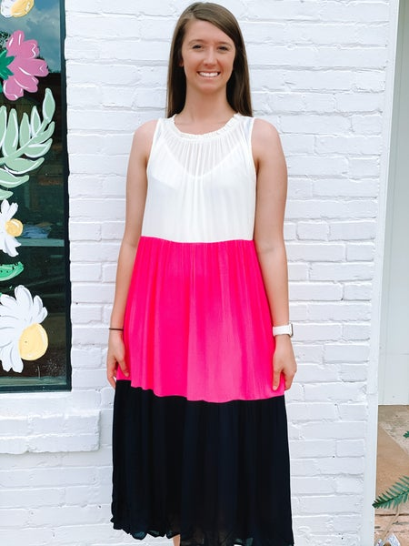 Easy In ColorBlock Maxi Dress