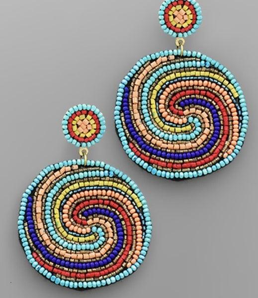 It's A Whirlwind Earrings