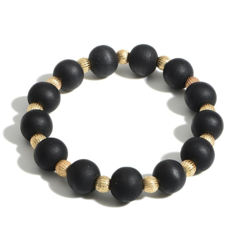 Wooden You Like To Know Bracelet (Black)