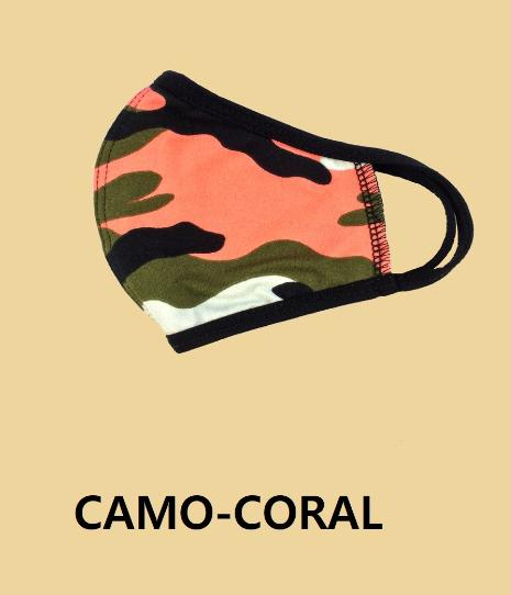 KIDS' Camo + Coral Facemask *Final Sale*