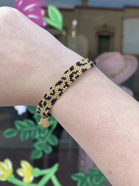 Love poppy leopard bracelet *Final Sale*