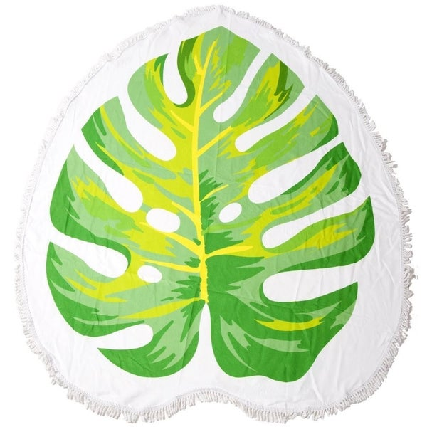 Palm Leaf Fringe Round Towel