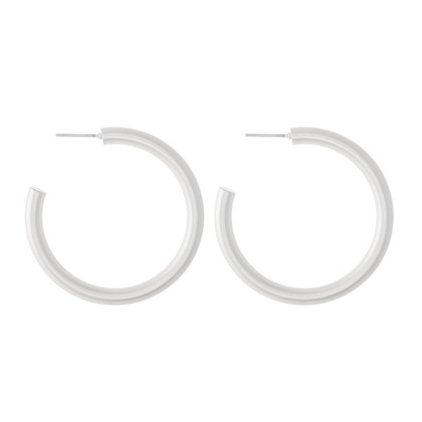 Jessica's Silver Hoops