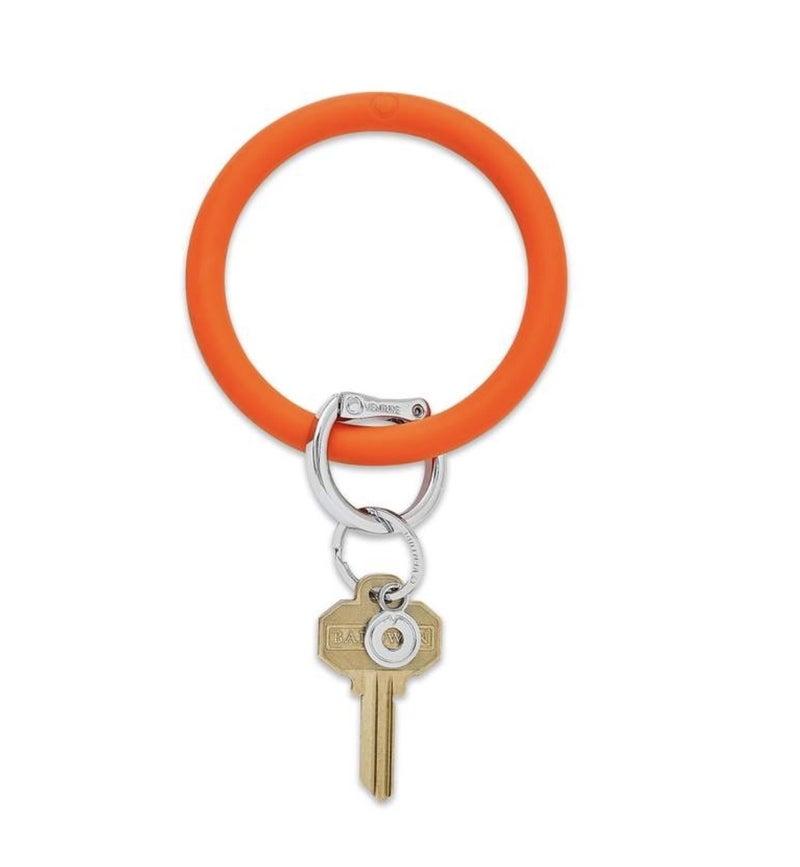 Silicone Big O Key Ring *Orange Crush*