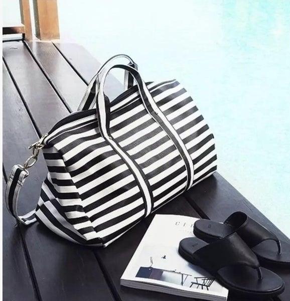 Sassy Striped Weekender Duffle Bag
