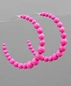 Oh So Cute Hoops-Pink