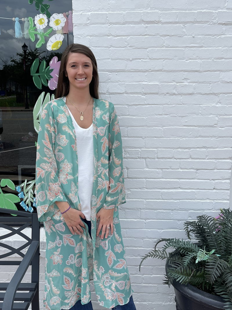 Adrienne-Paisley Floral Duster