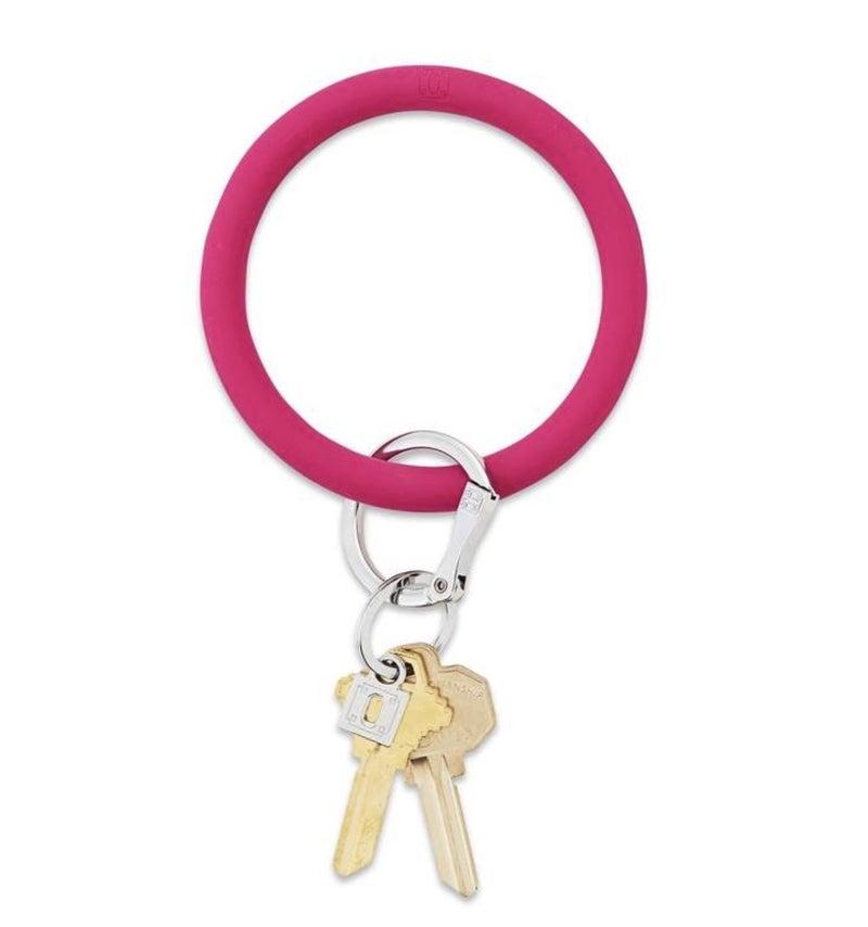 Silicone Big O Key Ring *I Scream Pink*