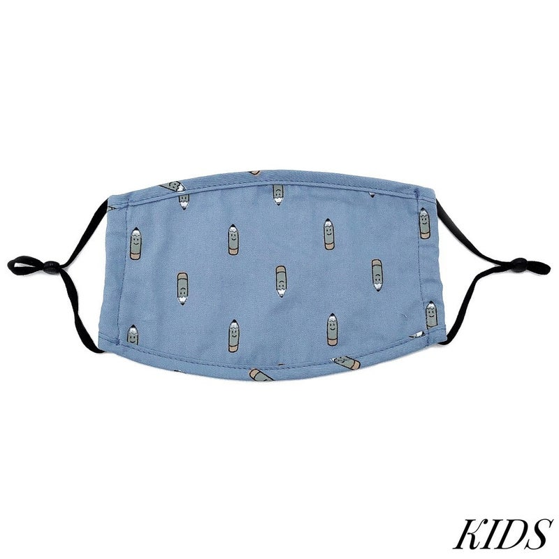 Do everything in Love Brand Kids Adjustable School Pencil Print Face Mask - 3 Colors!