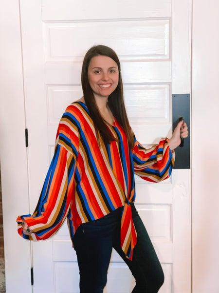 Last One! Adrienne Striped Top *Final Sale*