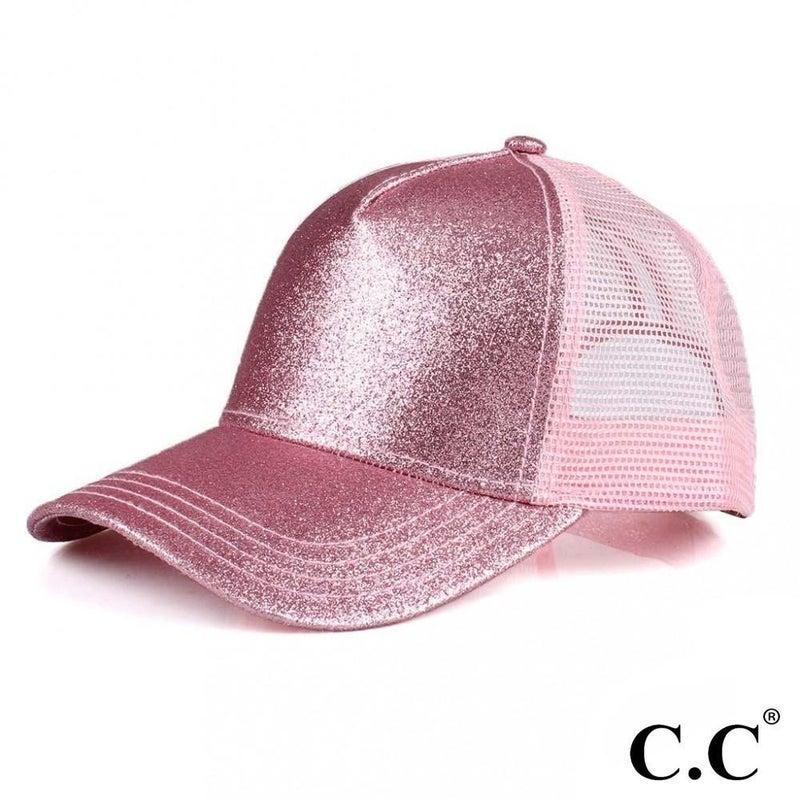 C.C Pony Tail Glittery Trucker Hat