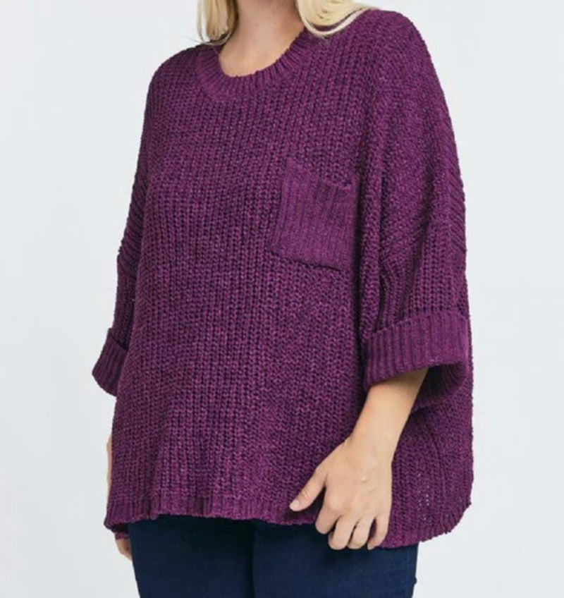 Plum Perfection Top - Curvy Only! *Final Sale*