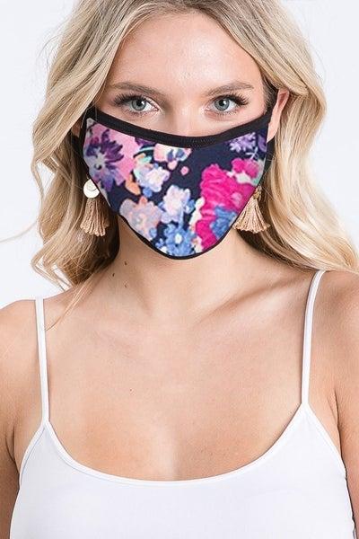 ADULT Navy Floral Mask *Final Sale*