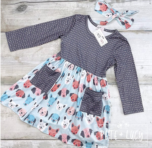 PREORDER: Pete + Lucy Puppy Dog Pals: Girl's Dress