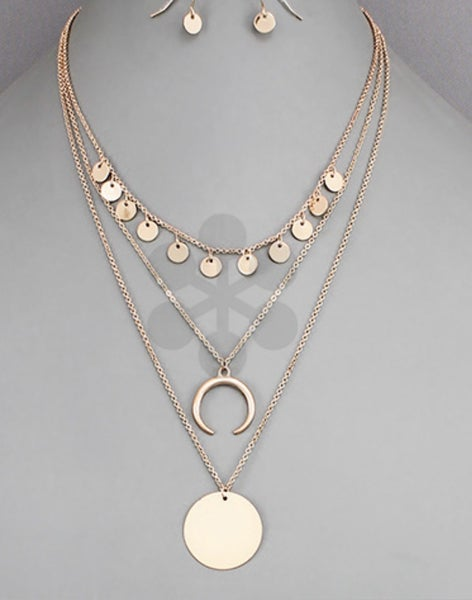 Rose Gold Triple Necklace