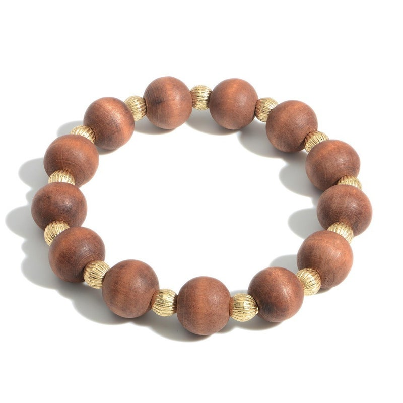 Wooden You Like To Know Bracelet (Brown)