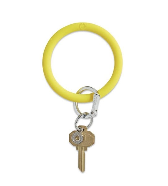 Silicone Big O Key Ring *Yes Yellow*