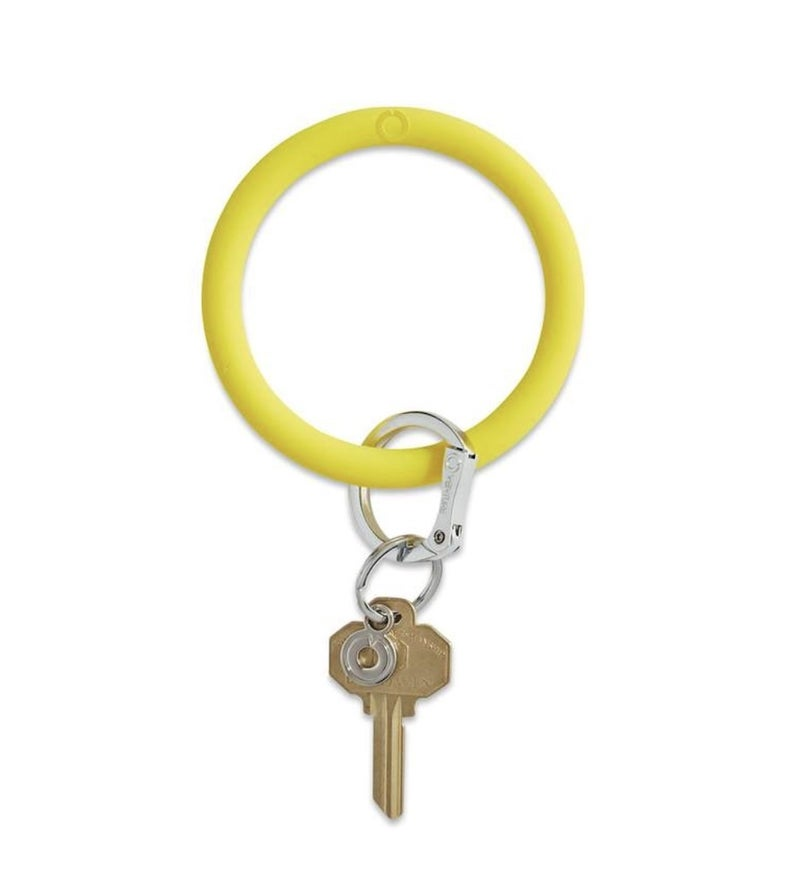 Silicone Big O Key Ring *Yes Yellow*