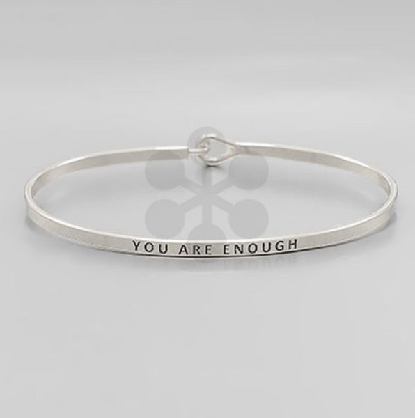 You are Enough Silver Bracelet