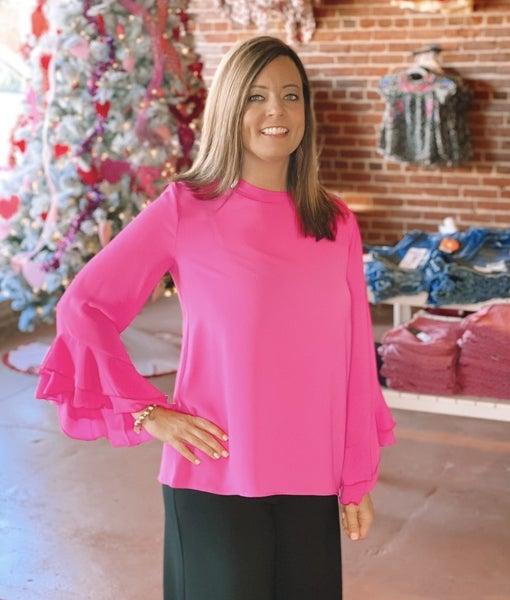Pink Flutter Top
