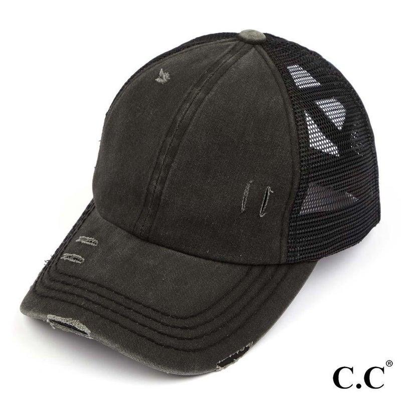 Back In Black C.C Ball Cap *Adult & Child*