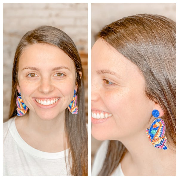 Butterfly Kisses Beaded Earrings