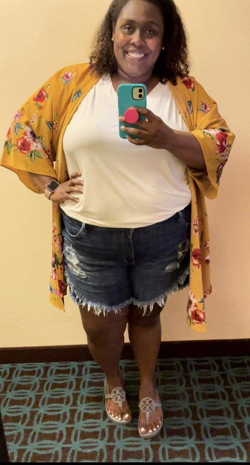 YMI Fav Fringe Shorts! - Curvy Only!