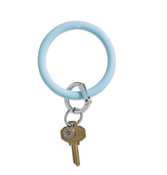 Silicone Big O Key Ring *Sweet Carolina Blue*