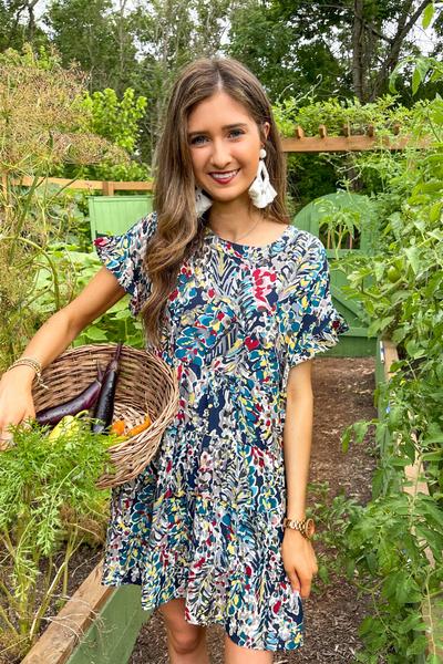 Secret Garden Floral Babydoll Dress